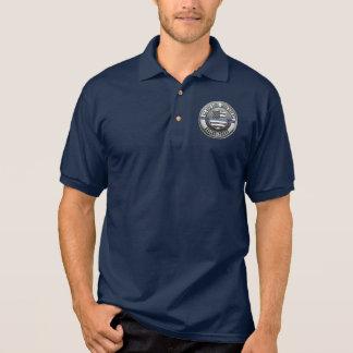 Dallas Police Memorial Thin Blue Polo Shirt
