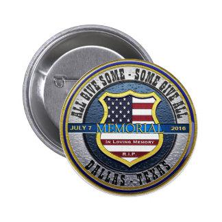 Dallas Police Thin Blue Line Memorial Button