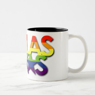 Dallas Rainbow Stripe Mug