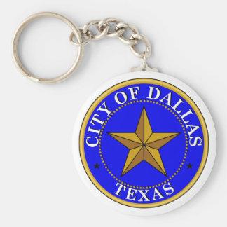 Dallas Seal Basic Round Button Keychain