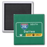 Dallas, señal de tráfico de TX Iman De Frigorífico