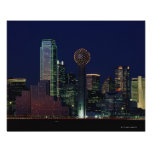 Dallas Skyline at Night Print
