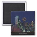 Dallas Skyline at Night Refrigerator Magnet