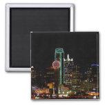 Dallas Skyline at Night Refrigerator Magnets