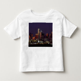 Dallas Skyline at Night Tshirts