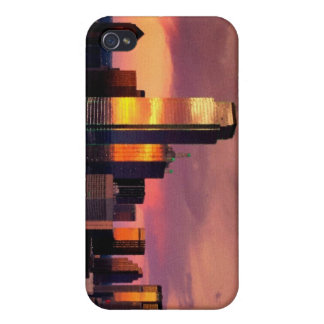 Dallas Skyline at Sunset Cover For iPhone 4