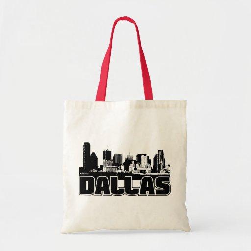 Dallas Skyline Tote Bags