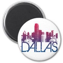 Dallas Skyline Design Magnet