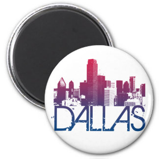 Dallas Skyline Design Magnet