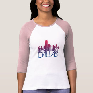Dallas Skyline Design Tee Shirts