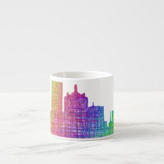 Dallas skyline espresso cup