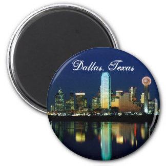 Dallas Skyline 2 Inch Round Magnet