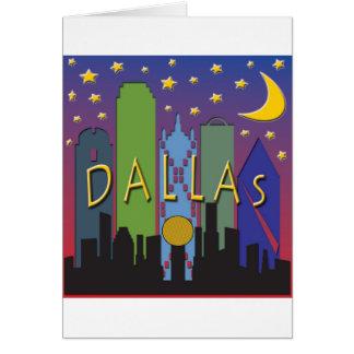 Dallas Skyline nightlife Card