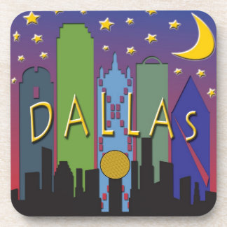 Dallas Skyline nightlife Drink Coaster