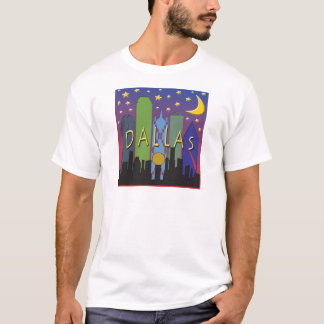 Dallas Skyline nightlife T-Shirt