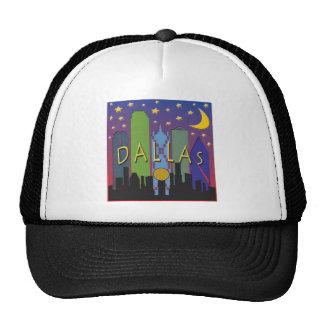 Dallas Skyline nightlife Trucker Hat