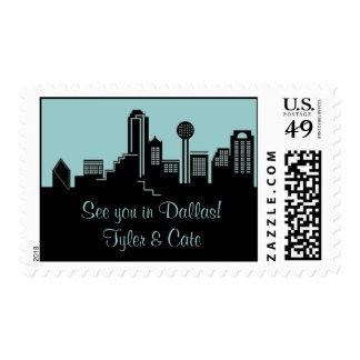 Dallas Skyline Postage Stamp