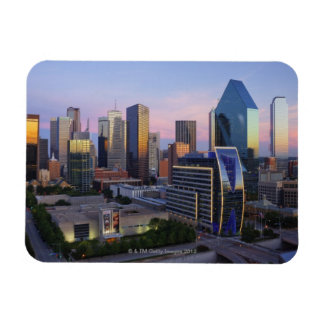 Dallas Skyline Rectangle Magnets
