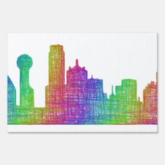 Dallas skyline sign
