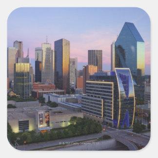 Dallas Skyline Square Sticker