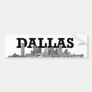 Dallas Skyline with Dallas in the Sky Bumper Sticker