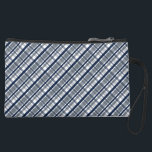 "Dallas Sports Fan Silver Navy Blue Plaid Striped Suede Wristlet Wallet<br><div class=""desc"">An original graphic design by Shelley Neff Design and Photography featuring a repeating plaid pattern of navy blue, silver and white. A perfect design for any Dallas football fan – GO SILVER and BLUE! Looks great on pillows, neckwear, shower curtains, ties, leggings, flip flops, water shoes, bath mats, car floor...</div>"