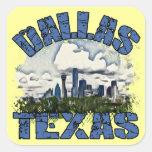 Dallas, Tejas Pegatina Cuadrada