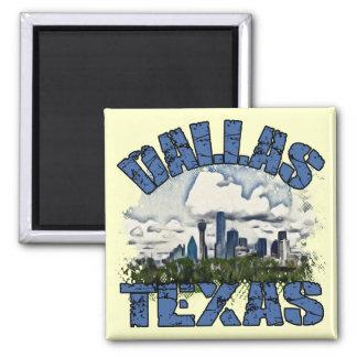 Dallas, Texas 2 Inch Square Magnet