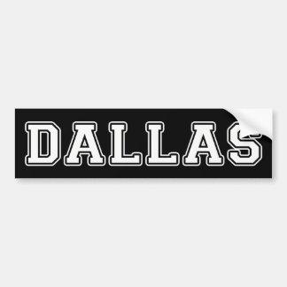 Dallas Texas Bumper Sticker