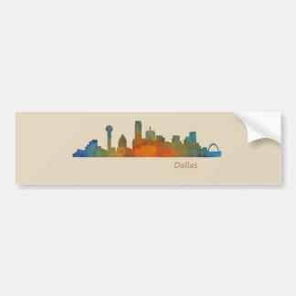 Dallas Texas City Watercolor Skyline Hq v1 Bumper Sticker