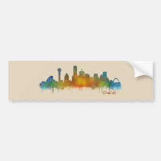 Dallas Texas City Watercolor Skyline Hq v2 Bumper Sticker