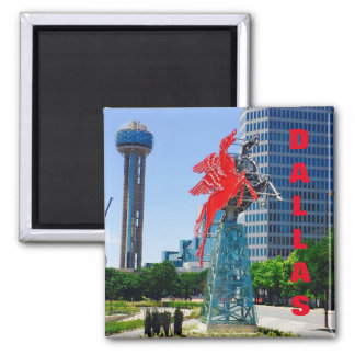 Dallas Texas Downtown Landmarks Magnet