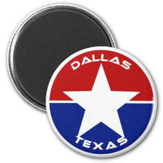 Dallas, Texas 2 Inch Round Magnet