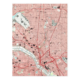 Dallas Texas Map (1995) Postcard