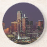 Dallas, Texas night skyline Coaster