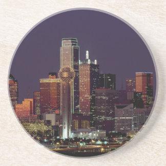Dallas, Texas night skyline Beverage Coasters