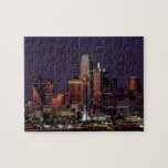"Dallas, Texas night skyline Jigsaw Puzzle<br><div class=""desc"">Dallas,  Texas night skyline.</div>"