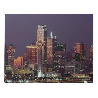 Dallas, Texas night skyline Notepad