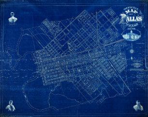 Blueprint jigsaw puzzles zazzle dallas texas official 1875 detailed blueprint map jigsaw puzzle malvernweather Images