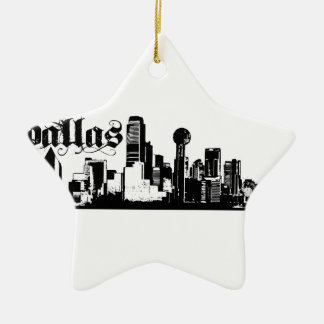 Dallas Texas Put on for your city Ceramic Ornament