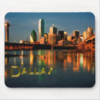 Dallas Texas Skyline at Dusk Mouse Pad