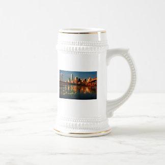 Dallas Texas Skyline at Dusk Coffee Mugs