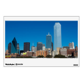 Dallas Texas skyline at sunset Wall Decal