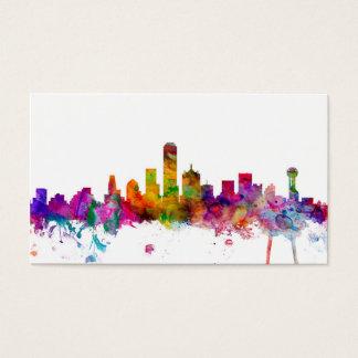 Dallas Texas Skyline Business Card