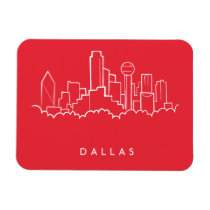 Dallas Texas Skyline Magnet