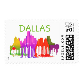 DALLAS, TEXAS SKYLINE PUDDLES POSTAGE
