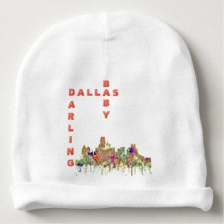 Dallas, Texas Skyline SG-Faded Glory Baby Beanie