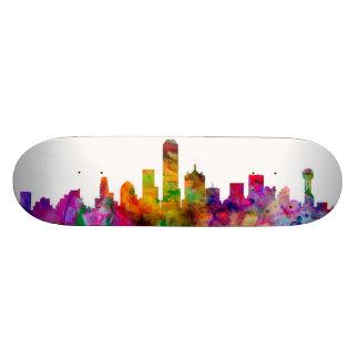 Dallas Texas Skyline Skateboard