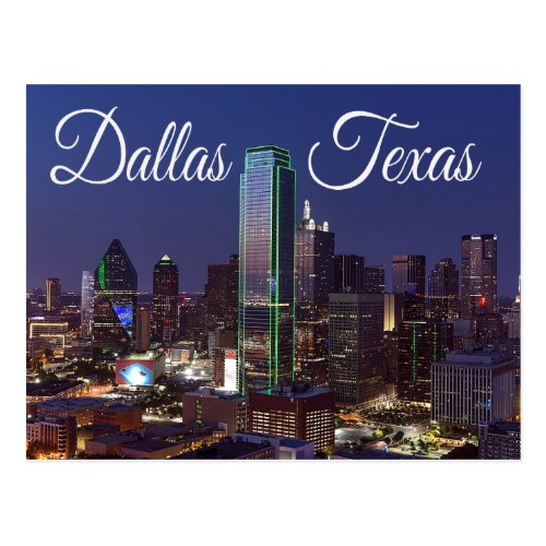 Dallas Texas Skyline United States Postcard