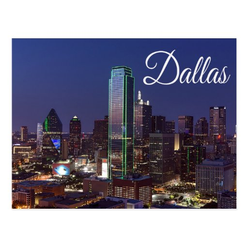 Dallas (TX) United States  city photos gallery : Dallas, Texas Skyline, United States Postcard | Zazzle